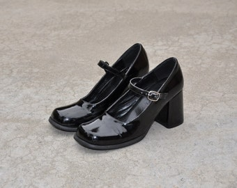 Chunky Patent Leather Mary Janes