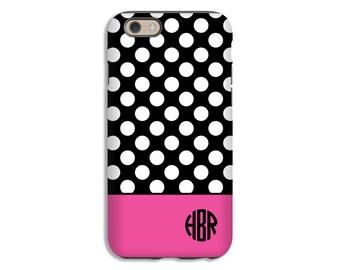 iPhone 7 case, monogram iPhone 7 Plus, polka dot iPhone case, iphone SE/6s/6s Plus/6/6 Plus/5s/5 cases, 3D iPhone cases