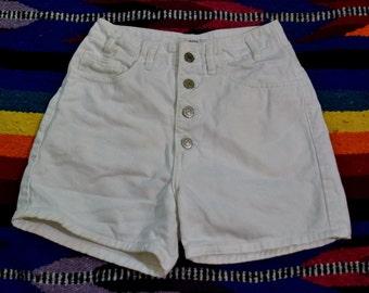 Vintage 80s Guess Jeans White Denim Shorts