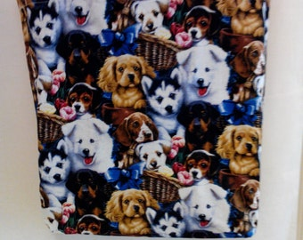 Puppies reusable grocery bag