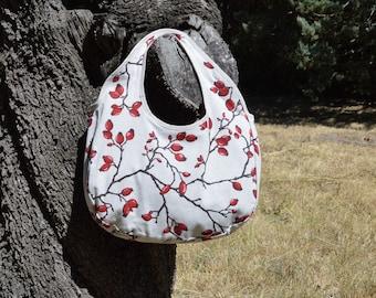 Handbag / / red / / handmade / / summer bag
