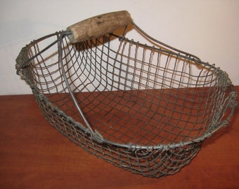C. 1925 ... Antique metal potato basket ...