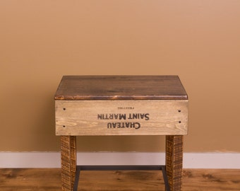 1113 Wine Crate Stools - Counter Height