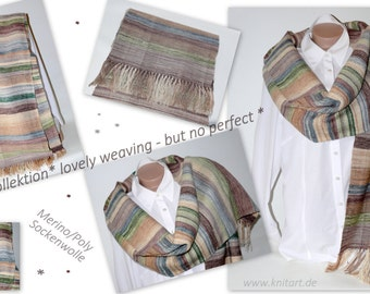 SCARF, Cap, hand-woven shawl
