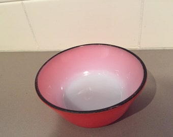 Vintage Anchor Hocking Fire-King Red Bowl 12.5 cm diameter