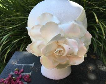 Ivory Headband, baby headband, flower girl headband, baptism headband, girl headband