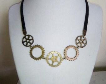 Gear Steampunk Necklace