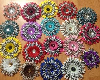 Cheetah & Zebra Print Flower Hair Accessories