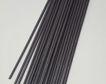 Lot of Carbon Sticks 99,9% Graphite for GaNS production 5 x 200 mm