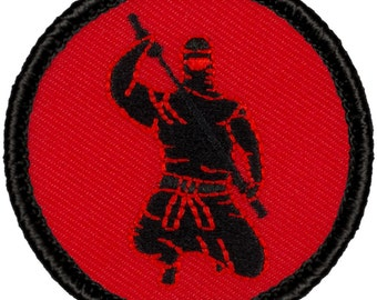 "2"" Diameter Embroidered Ninja Patch (318)"