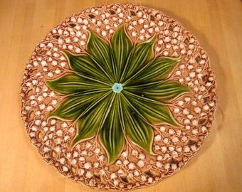 Majolica Lily of the valley plate