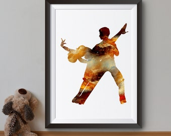 Tango Art Print - Dance Poster - Dancing Couple Illustration - Wall Art - Home Decor