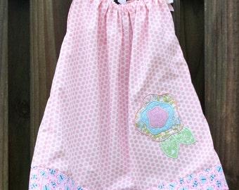 Pink Polka Dot Pillow Case Dress