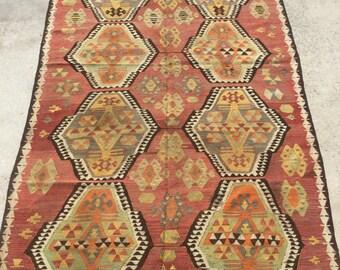 303x161 cm 9.9x5.3 feet Boho Kilim Rug Anatolian Kilim Turkish Kilim Floor Kilim Turkish Antique Kilim Rug Ethnic Kilim Rug Handmade Rug