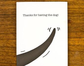 Thanks for having the dog