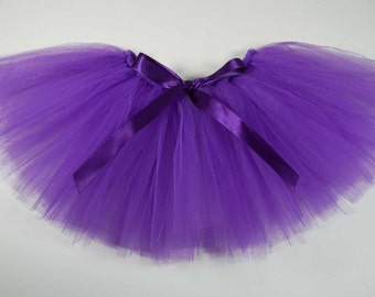 Purple Violet Tutu with Bow - Girl/Baby Size