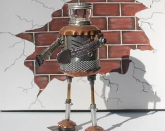 Bex Mecon; Original handmade, Steampunk, Metal Sculpture