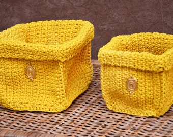 Small Crochet Box