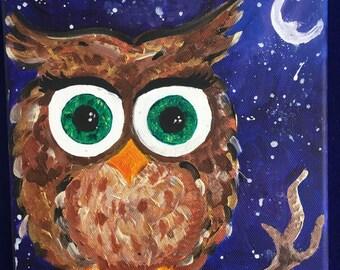 "8"" x 8"" Owl"