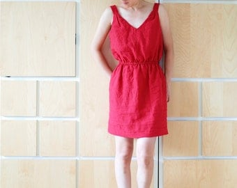 Linen summer dress with elastic band (Special Edition)