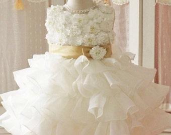 Girls white dress 2t