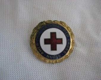 Vintage American Red Cross Nurse pin