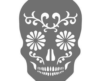 Sugar Skull Vinyl Decal - Choose Size/Color