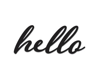 Hello | Word Art Cutout | Wall Art | Wall Decor | Home Decor