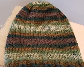 Nature's Stripe Slouchy Beanie