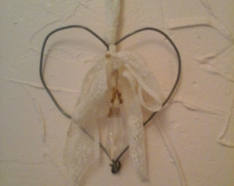 Handmade wire decorated heart