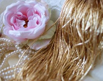 Dark Gold Wire-Goldwork Wire-Gold Wire-Metallic Rough Wire