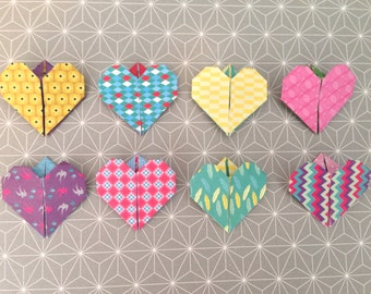 Bookmark / place heart x 4 mark