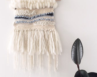 Woven Wall Hanging: Boho Tapestry, A Day at Sea Weaving