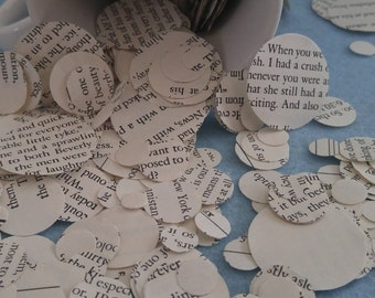 1000+ pieces of book confetti