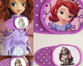 Eyepatches for children's with Sofia the First. Patch for treatment of amblyopia, lazy eye, strabismus. Occlusion. Opticlude. Operclude