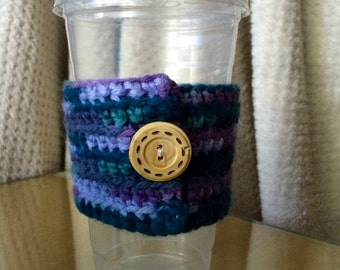 Purple Multi Coffee Cozy