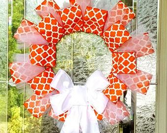 Orange Lattice Wreath