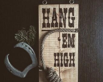 "Plank of wood decorative ""Hang"