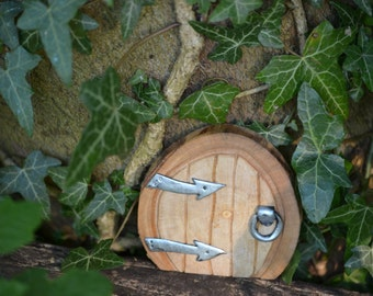 Fairy door for indoors and outdoors home made from sycamore