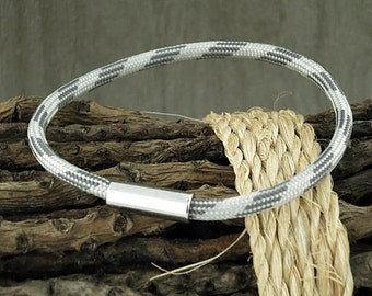 "Grey Scale ""Minimalist"" Magnetic Clasp Bracelet"