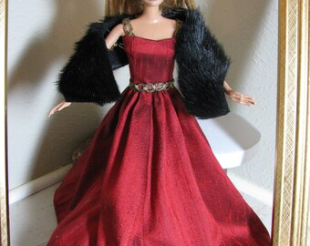 Barbie doll clothes-Winter ball gown