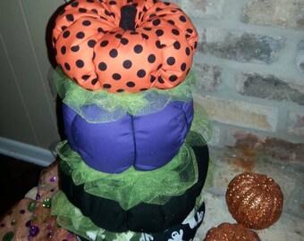 Fabric pumpkin stacker, halloween decor, fall decorations, fabric pumpkins, halloween home decor, pumpkins, harvest decor