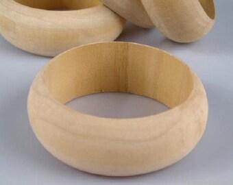 Wood Bracelet, Natural Wood Bangle, Raw Wood Bangle for your Handmade