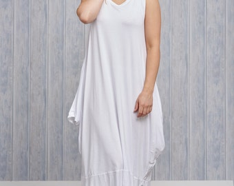 Made In Italy Jersey Sleeveless Dress