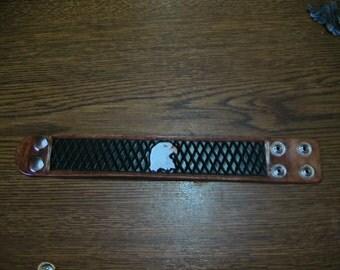 eagle leather wrist band