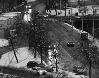 "Vilnius, Lithuania - ""Evening Traffic"" (Long Exposure) (8x12)"