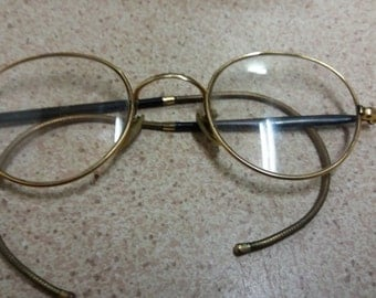 Algha Vintage Spectacles - School Boy - Harry Potter - Retro Vintage - Hipster - Goldtone 1930s 1940s