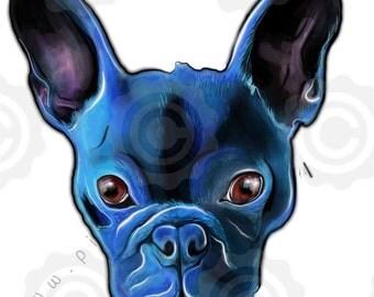 Black French Bulldog Art Print