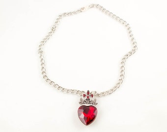 Red Heart Chain Choker
