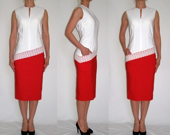 SALE Red and ivory beauty Size 10